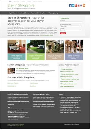 shropshire tourism website design